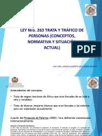 Expo Ley Nro 263 Contra La Trata y Trafico de Personas