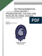 Reglamento de Evaluacion 2017-2020 _1