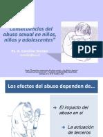 Consecuencias Del Abuso Sexual en Niños, Niñas y Adolescentes