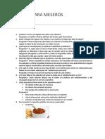 Manual Para Meseros