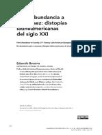 De la abundancia a la escasez. distopías latinoamericanas del siglo XXI.pdf