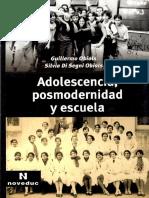 Adolescencia,Posmodernidad y Escuela Guillermo Obiols