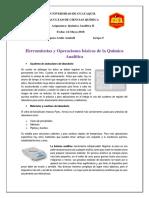 Herramientas y Operaciones Basicas de La Quimica Analitica