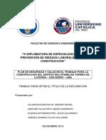 Sistema de Gestion de Seguridad y Salud en El Trabajo Plan Te Trabajo Grupal