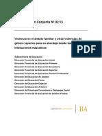 Com Conjunta 2-13 Violencia en El Ámbito Familiar y Otras Violencias de Género Aportes Para Su Abordaje Desde Las Instituciones Educativas