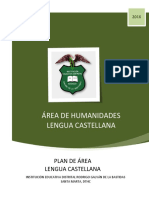 Castellano Plan de Área 2016