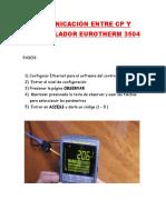 Comunicación Entre Cp y Controlador Eurotherm 3504