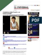 ¿Cuándo Se Debe Acudir a Un Endocrinólogo_ _ EL UNIVERSAL - Cartagena
