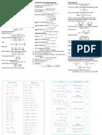 Engineering Mathematics Cheat Sheet