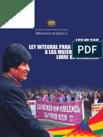 LEY 0348 Mujeres Libre de Violencia