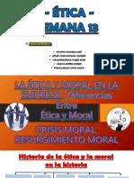 La Etica y Moral en La Empresa
