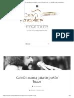 Acordes De_ Canción Mansa Para Un Pueblo Bravo _ Micuatro