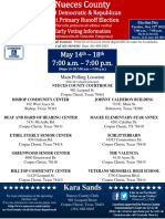 Early voting locations in the Coastal Bend
