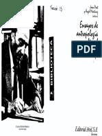 Pujadas Joan_Antropologia Urbana_Ensayos de Antropologia Cultural