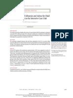 A Comparison of Albumin and Saline Dor Fluid Resuscitation in the Intensive Care Unit