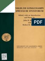 +++Nigellus de Longo Campo - Speculum Stultorum (English)