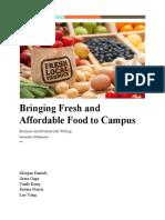 fresh food store proposal