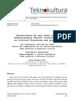 ¿La Vigilancia Vestida de Seda? Hacia Una Comprensión de La Contra-Vigilancia Como Discurso y Práctica Crítica (2014)