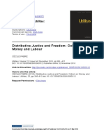 Cécile Fabre - Distributive Justice and Freedom. Cohen on Money and Labour