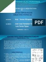 NUEVAS TIPOLOGIAS ARQUITECTONICAS
