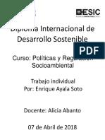 Politicas sociambientales Peru. Enrique Ayala