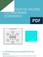 El Mercado de Valores y El Panorama Economico