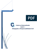 Caderno Sistematizado - 2018.1 Civil II - Obrigações e Responsabilidade Civil