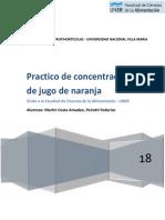 Informe Concentracion de Jugo