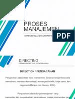 Directing & Actuating