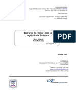 Seguros de Indice Agricola - Bolivia AFIN