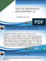 Caso Clínico de Endodoncia Marta Lopez