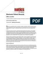Electronic Patient Records-EMRs and EHRs