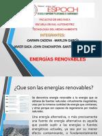 ENERGIAS RENOVABLES PRESENTACION