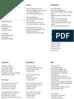 english kids poems