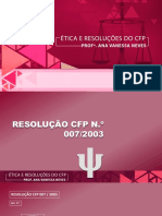 Ética e Resoluções CFP 3