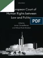 Jonas Christoffersen, Mikael Rask Madsen the European Court of Human Rights Between Law and Politics