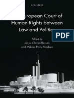 Jonas Christoffersen, Mikael Rask Madsen the European Court of Human Rights Between Law and Politics