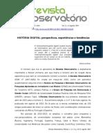 História Digital - dossiê - editorial