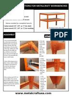 Workbench Assembly Instructions
