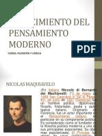 Pensamiento de Maquiavelo