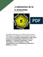 Los Cinco Ministerios de La Iglesia de Jesucristo