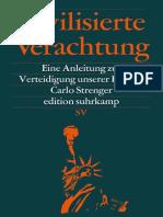 Carlo Strenger - Zivilisierte Verachtung - Eine Anleitung Zur Verteidigung Unserer Freiheit