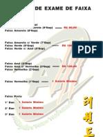 Tabela do exame de faixas