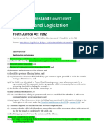 youth justice act 1992 sentencing principles