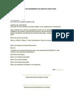 Documento de Recebimento de serviço prestado