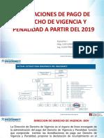 Obligaciones de Pago de Derecho de Vigencia y Penalidad a Partir Del 2019