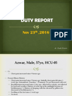 Duty Report, Affandi (Dr. Rudi)