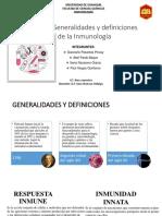 Generalidades de la Inmunologia