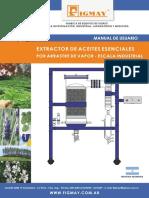 Extractor de Aceites Esenciales Escala Industrial