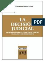 """CAMILO HUMBERTO PRIETO FETIVA, """"La decisión judicial. Problemas en torno a la creación del Derecho y el contexto del descubrimiento"""" En"""